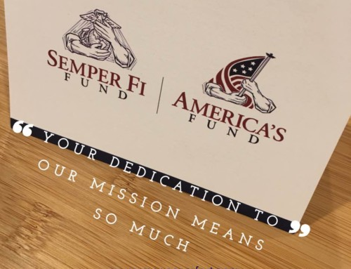Proud Donors to Semper Fi Fund